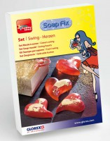 Komplett-Set Soap-Fix Swing-Herzen